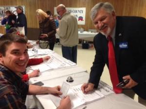 Casting my Caucus vote!